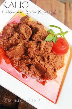 Kalio daging sapi rendang padang indonesian beef rendang brown color
