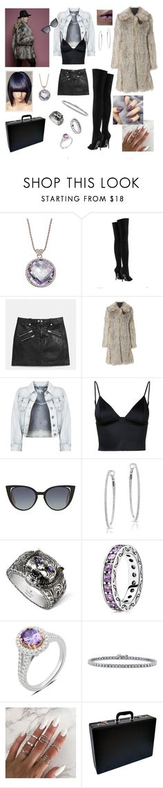 """Dusk Til Dawn: The Accomplice"" by valaquenta ❤ liked on Polyvore featuring Lisa Nik, Versace, Coach, Helmut Lang, T By Alexander Wang, Fendi, Anne Sisteron, Gucci, Pandora and BERRICLE"