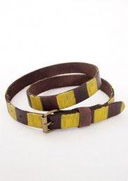 Leather belt col.Stripes Bobo Choses