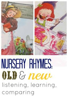 your kids will get a KICK out of the old versions and new versions of nursery rhymes. --> great reading activity!