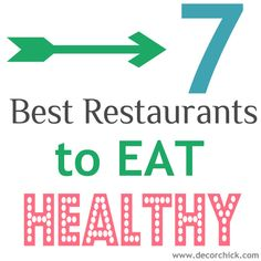 Healthy Restaurants - Good to know!