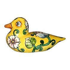 CERAMICHE D'ARTE PARRINI - Italian Ceramic Art Animal Figurine Duck Pottery Hand Painted Decorated Deruta Made in ITALY Tuscan. Ceramic small duck .Net weight Kg.0,500 Dimensions 7.08 lenght Inch x 3.14 Inch x 3.93h inch --By purchasing directly from the manufacturer of Tuscan craft, you can ask if you want, any other customization, or you can buy now so as you see in the picture and you will be sent the day after the payment( with certificate of authenticity signed ). Hand painted by...