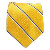 Ties - Travel Stripe - Light Gold/Blue - Ties