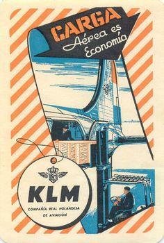 KLM Air Cargo Vintage Spanish Label