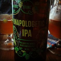 Stone Unapologetic IPA. #craftbeer #sandiego Come find #sdhopaddict now on Instagram.