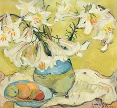 South African - (Old Paint) Lilies, Irma Stern. Art Floral, Edvard Munch, Vincent Van Gogh, Lily Painting, South African Artists, Africa Art, Still Life Art, Mellow Yellow, Beautiful Paintings