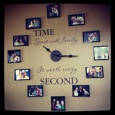 Incredible A Family Clock. Give your child a book to read.spiritsofaust… The post A Family Clock. Give your child a book to read. Family Clock, Family Wall, Family Room, Ideas Paso A Paso, Home And Deco, Handmade Home, Handmade Pottery, Family Pictures, Framed Pictures