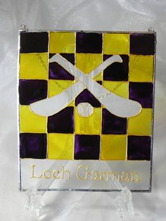 Items similar to Wexford ( Loch Garman ) GAA hurling window decoration on Etsy My Etsy Shop, Window, Decorations, Unique Jewelry, Handmade Gifts, Check, Sports, Vintage, Art