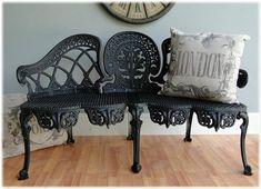 Antique Replica Victorian Garden Bench custom by TheKingsBay, $379.00