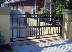 Mẫu cổng không vòm nhà riêng