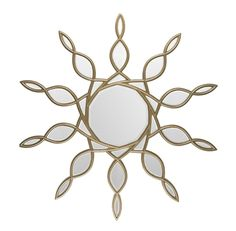 oversized gold sunburst mirror is meant for center stage. Place it above a mantle, over the vanity, or above an entryway console for a glamorous home accent.
