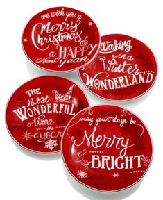 222 Fifth Christmas Tunes Collection Salad Plates set of 4