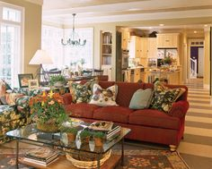 Crabapple cottage john tee architect southern living for Southern living house plans with keeping rooms