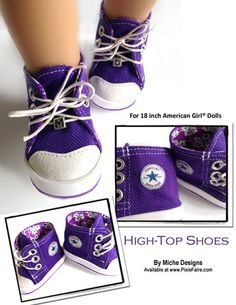 """High Tops 18"""" Doll Shoes"""
