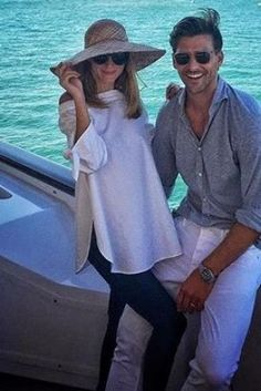 Olivia Palermo wearing Tibi Satin Poplin Off-the-Shoulder Tunic