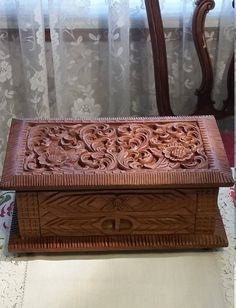 Mycyberattic.etsy.com  in my Etsy shop https://www.etsy.com/listing/516769235/vintage-hand-carved-jewelry-box-velvet