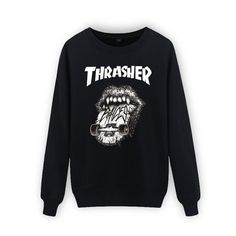 Cotton Thrasher Hip Hop Sweatshirt Men