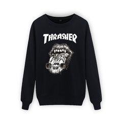 Cotton Thrasher Hip Hop Sweatshirt Men