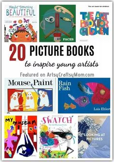 Exploring The Great Artists Archives - Artsy Craftsy Mom Art Books For Kids, Artists For Kids, Art For Kids, Kid Books, Library Books, Children's Books, Preschool Books, Kindergarten Art, 10 Picture