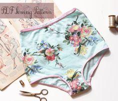 High Waist Panties Sewing Pattern Vintage Style by OhhhLuluSews