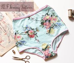 High Waist Panties Sewing Pattern Vintage Style Pin Up Ohh Lulu 1316 Ava Panties PDF Instant Download