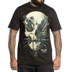 Sullen Art Collective Chase Black T-Shirt 100% Cotton Tattoo Art Screen Print #SullenClothing #GraphicTee