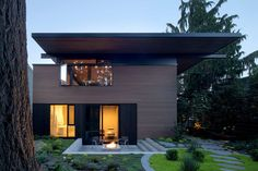 Villa, Modern Landscaping, Types Of Houses, Minimalist Home, Detached House, Interior Architecture, Interior Design, New Homes, House Design