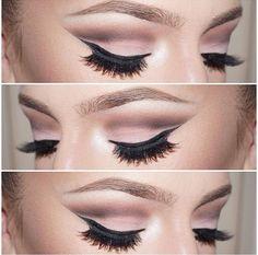 Brown Matte Cut Crease Makeup Look