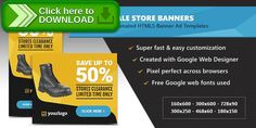 [ThemeForest]Free nulled download HTML5 Ads - Store Sale Discount Promotion Banners from http://zippyfile.download/f.php?id=45408 Tags: ecommerce, ads, advertising, adwords, animated, banner designs, banners, discount, doubleclick, google web designer, html5, promo, sale, store, templates, web banners