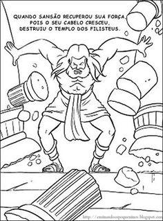 Resultado De Imagen Para Samson And Delilah Free Coloring Pages