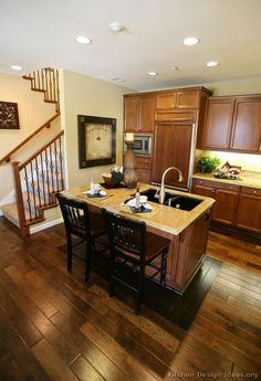 Love the floors in this #Kitchen of the Day: Color me hungry: Golden-brown kitchens.