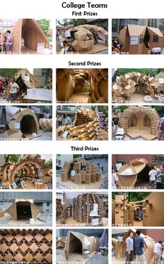 College of Architecture and Urban Planning Tongji University. Module Design, 3d Design, Paper Design, Paper Architecture, Architecture Design, Shell Structure, Cardboard Design, Parametric Design, Cardboard Furniture