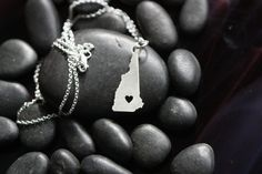 New Hampshire - very detailed sterling silver pendant necklace!