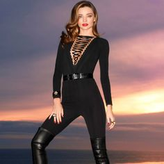 Givenchy by Riccardo Tisci bodysuit, $2,600, and belt, $1,695, saksfifthavenue.com; Givenchy by Riccardo Tisci pants, $1,875, and boots, $2,995, 737-1091; David Webb cuff, $58,000 and rings, $19,800-$28,000, 212-421-3030.   - HarpersBAZAAR.com