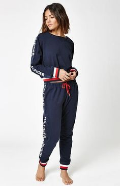 3241fd97b Tommy Hilfiger deliver the Taping Lounge Jogger Pants to keep you  comfortable all season long. These joggers feature an elastic waistband  with drawstring ...