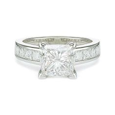 3.92 ct E SI1 PRINCESS CUT DIAMOND ENGAGEMENT RING PLT http://www.larrysfinejewelryinc.com