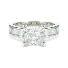 3.92 ct E SI1 PRINCESS CUT DIAMOND ENGAGEMENT RING PLT http://www.larrysfinejewelryinc.com