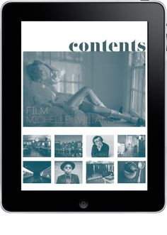 I like this layout for my interactive final portfolio. case ipad magazine | by lauren abramson.
