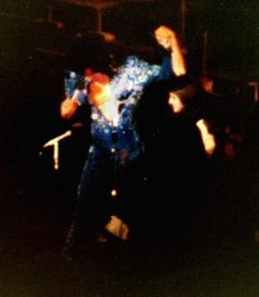 Elvis on stage at the Hilton in september 1972.