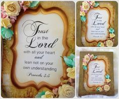 Bible Verses, Trust, Lord, Inspirational, Frame, Design, Products, Picture Frame, Frames
