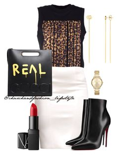 """Untitled #190"" by church-fashion on Polyvore featuring Alexander Wang, Christian Louboutin, Michael Kors, NARS Cosmetics and Gucci"