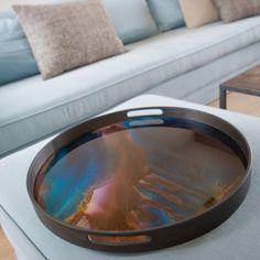 Notre Monde - Indigo Organic Glass Tray – Allissias Attic & Vintage French Style