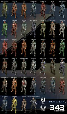 Halo 4 Spartan Compilation by ~Labj on deviantART