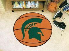 "Michigan State Basketball Mat 27"" diameter"