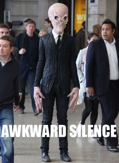 No one likes an awkward silence...it just makes us all feel uncomfortable. :D