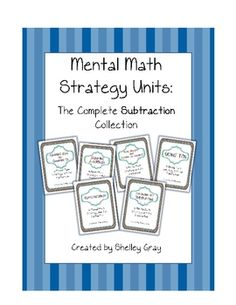 Six math strategy units for subtraction; over 650 pages in all!