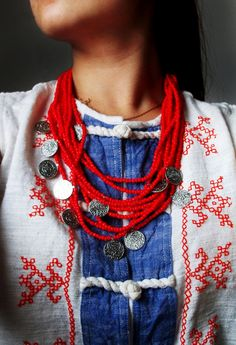 hutsul necklace by evgenia samsonova Slavic necklace
