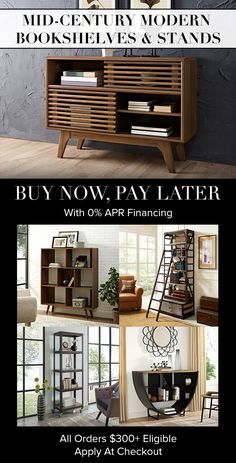 Urban Industrial Decor For Your Home – Industrial Decor Magazine Rustic Furniture, Home Furniture, Modern Furniture, Modern Bookshelf, Bookshelves, Shops, Mid Century Modern Decor, Shabby Chic Bedrooms, Apartment Interior