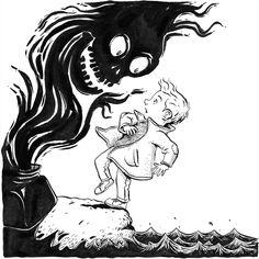 'Poison' Inktober! Nuno Alexandre Vieira #inktober #penandink #ink #blackandwhite #blueandwhite #monochrome #childrensbook #illustration #kidlit #kidlitart #kidlitartist #kidsbooks #booksforkids #raiseareader #sharestories #books #read #teaching #resources #learning #teacher #art #illustrator #bookstagram #instaart #draw #sketch #sketchbook #nunoalexandrevieira