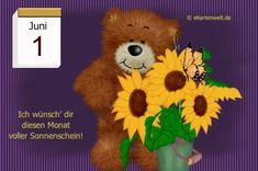 Juni, Monat, Teddy Bear, Night, Funny Good Morning Sayings, Day Of Year Calendar, February, Summer, Teddy Bears